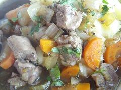 Minted Lamb Casserole - Slow Cooker
