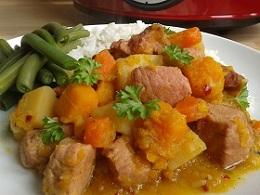 Ham & Butternut Squash Stew St Helenian Style - Slow Cooker