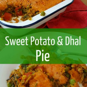 sweet potato and lentil dahl pie