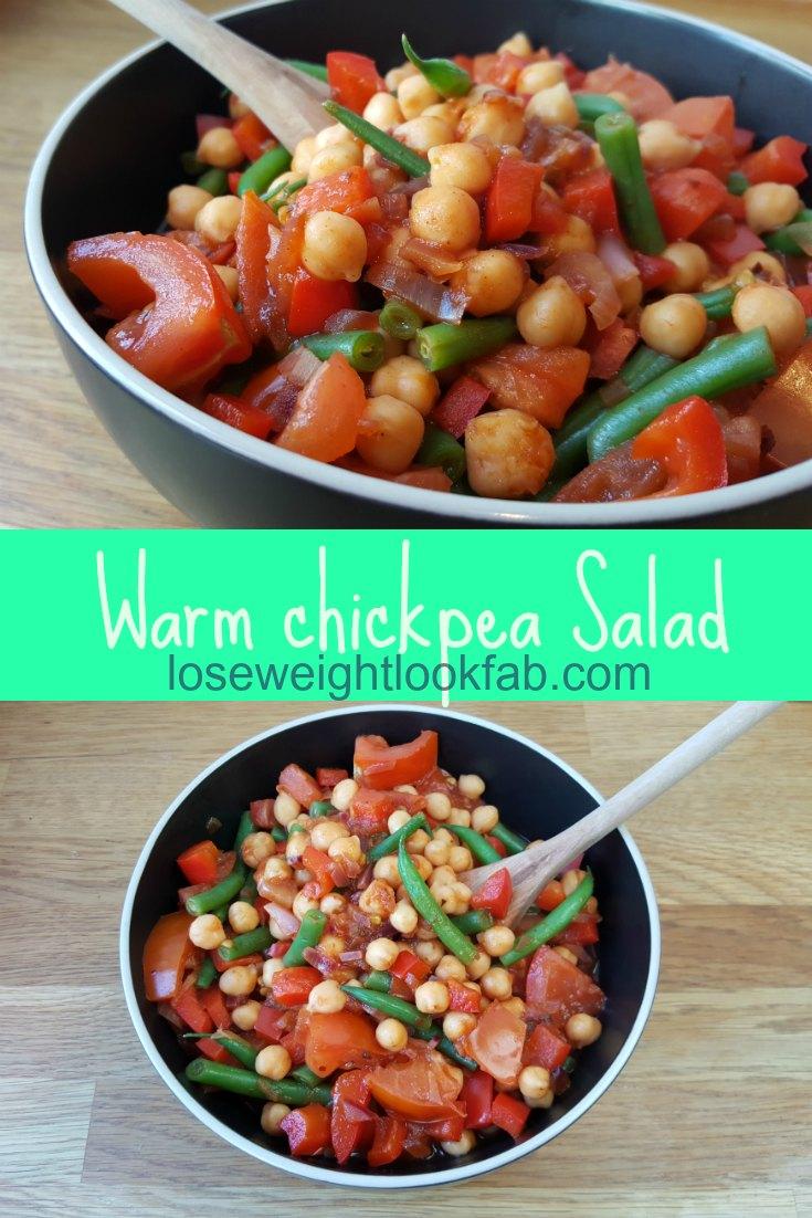 warm chickpea salad
